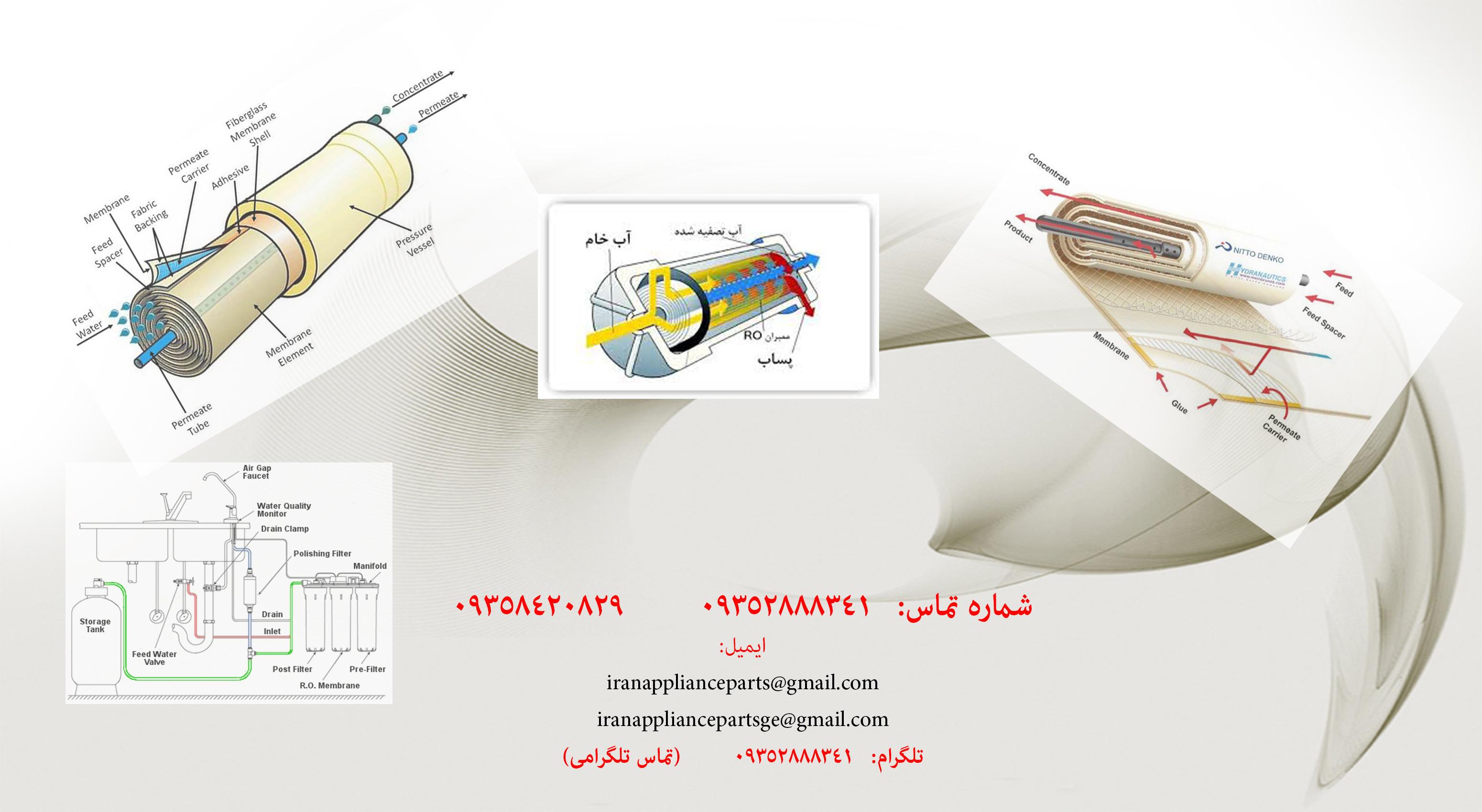 فیلتر های تصفیه آب 6 مرحله ای دستگاه تصفیه آب خانگی 6 مرحله ای